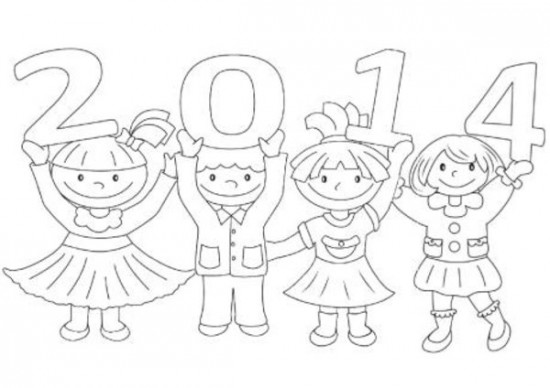 Activites coloriages nouvel an for New years coloring pages 2014