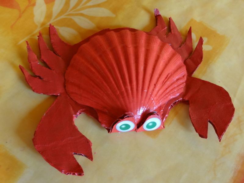 Activites animaux de la mer - Bricolage avec des coquillages ...