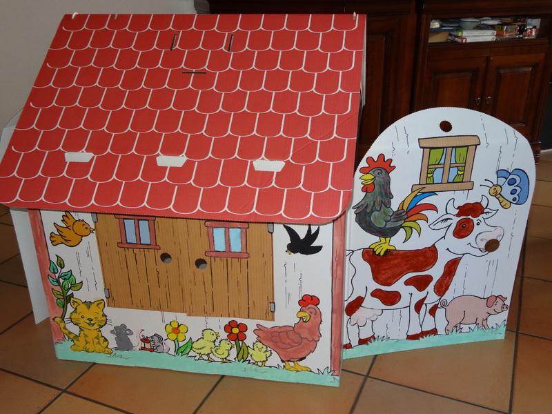 Jeux a fabriquer for Maison en carton a colorier