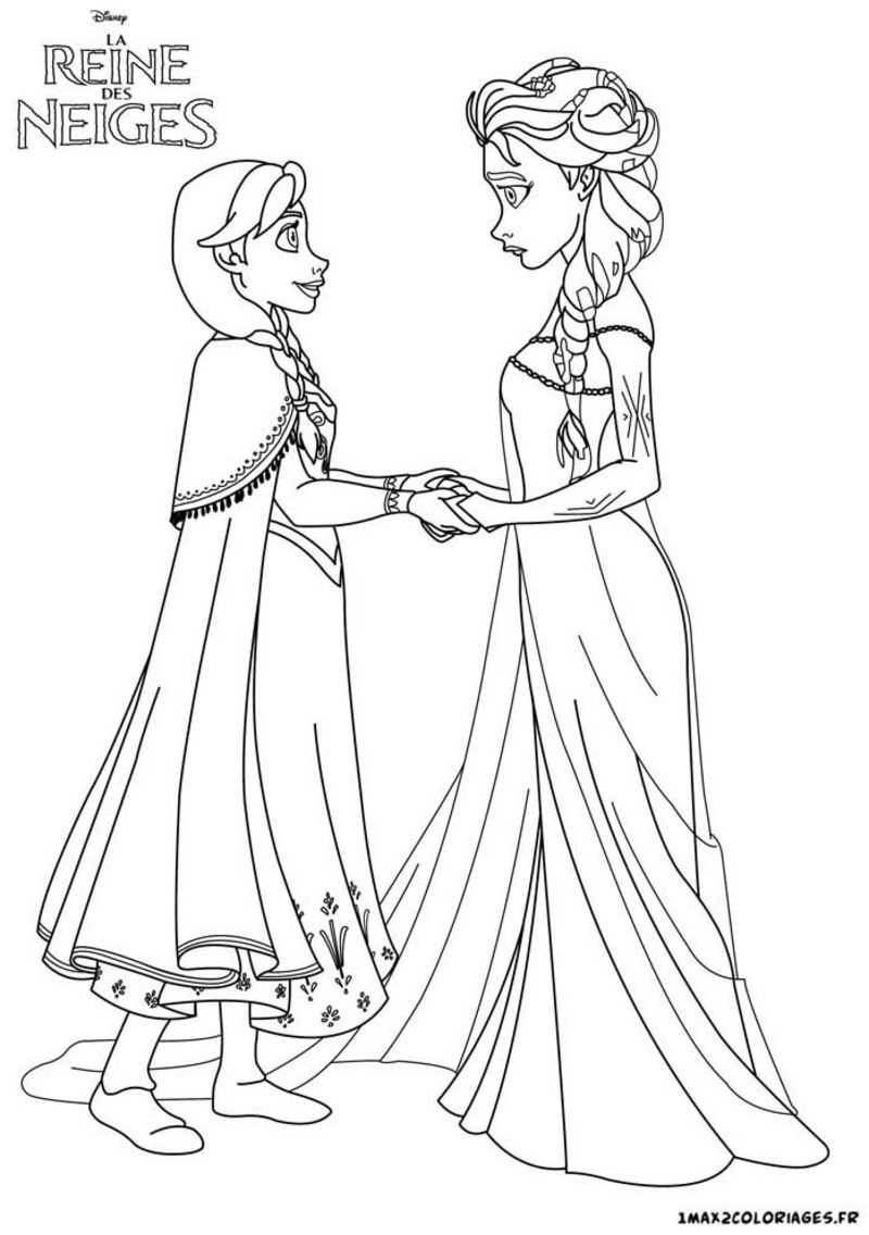 Activites coloriages princesses - Elsa coloriage ...