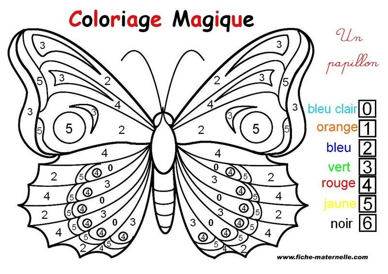 papillon coloriages magiquesjpg - Coloriages Magiques